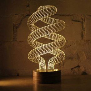 Spiral Bulb Optical Illusion LED Lamp