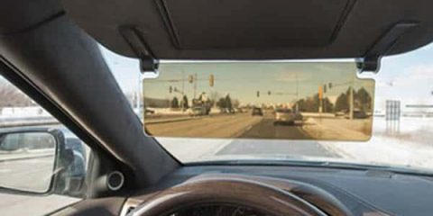 see through tinted auto sun visor