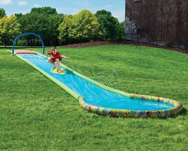 Water Slide In Backyard surfing backyard water slide - wicked gadgetry