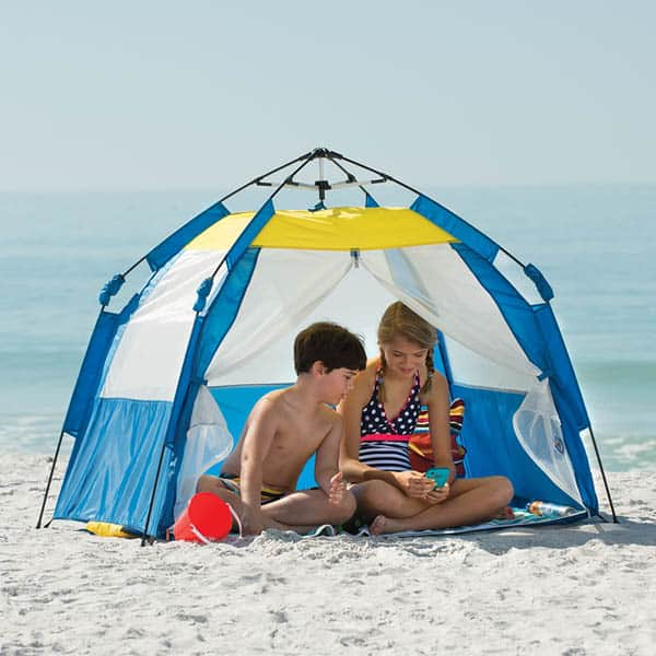Portable Beach Cabanas : Portable beach cabana tent wicked gadgetry
