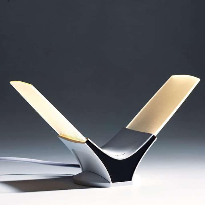 Table twins v shaped led table lamp wicked gadgetry led table lamp aloadofball Choice Image