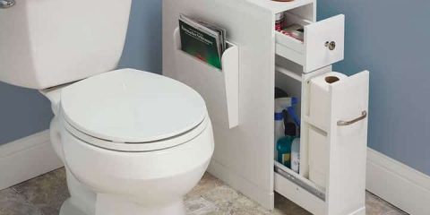 Image showing bathroom organizer in tight bathroom