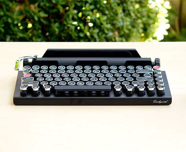 179f05c5df0 The Qwerkywriter Retro Bluetooth Mechanical Keyboard – A fusion of vintage  style with modern technology!