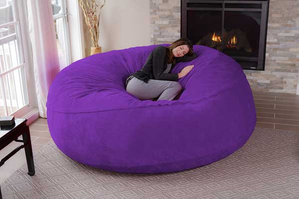 The Chill Bag 8-Foot Bean Bag Chair lets you relax in your own full size bean  bag! - Chill Bag 8-Foot Bean Bag Chair – Wicked Gadgetry