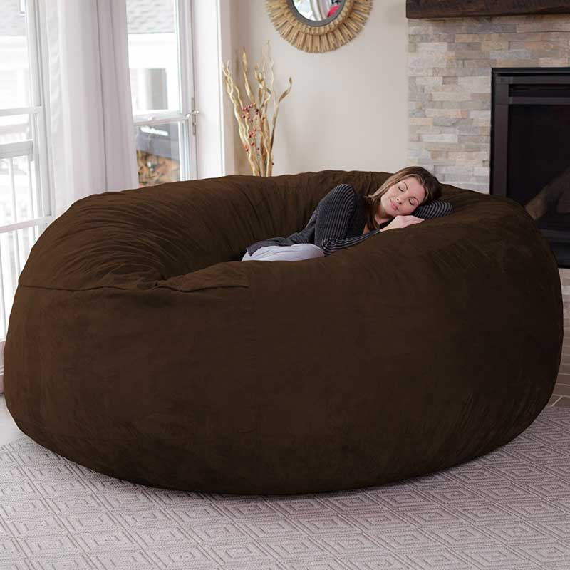 Chill bag 8 foot bean bag chair wicked gadgetry for 8 foot couch