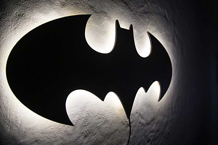 Batman led wall light wicked gadgetry the batman led wall light let the caped crusader light up your living space aloadofball Choice Image