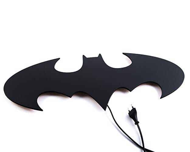 Batman led wall light wicked gadgetry the batman led wall light let the caped crusader light up your living space mozeypictures Images
