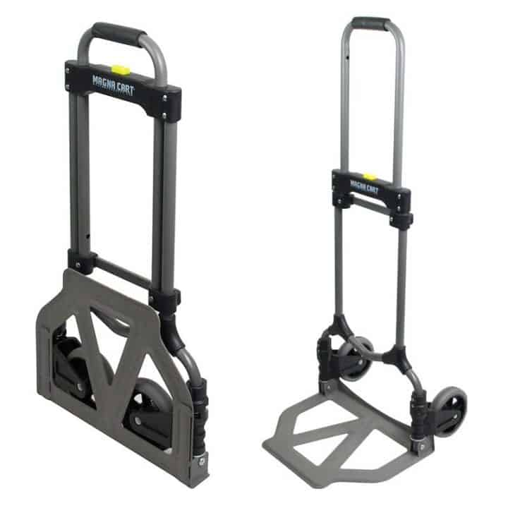 Steel-Folding-Hand-Cart folded and extended