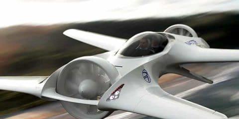 Dr 7 Flying Car In Flight