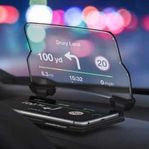 Heads-Up-Display on dashboard
