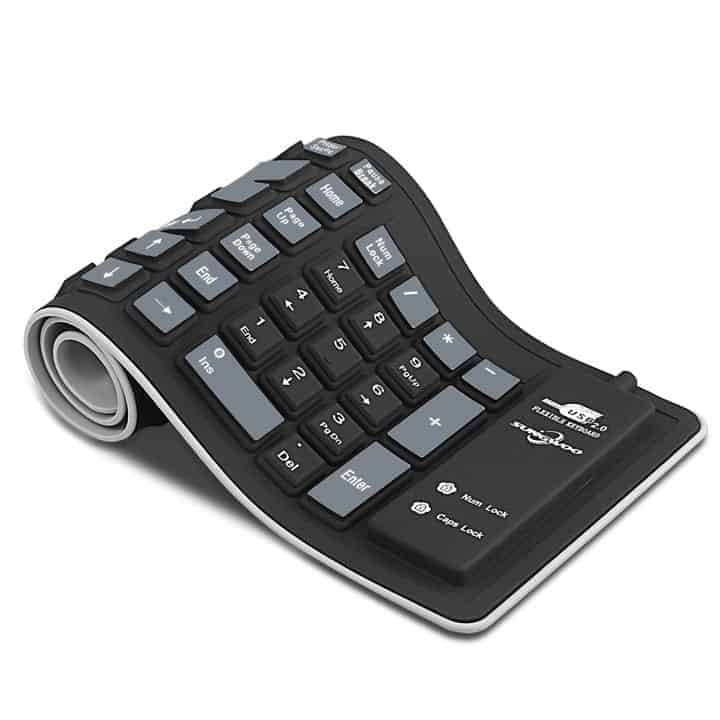 silicone-roll-up-keyboard on table
