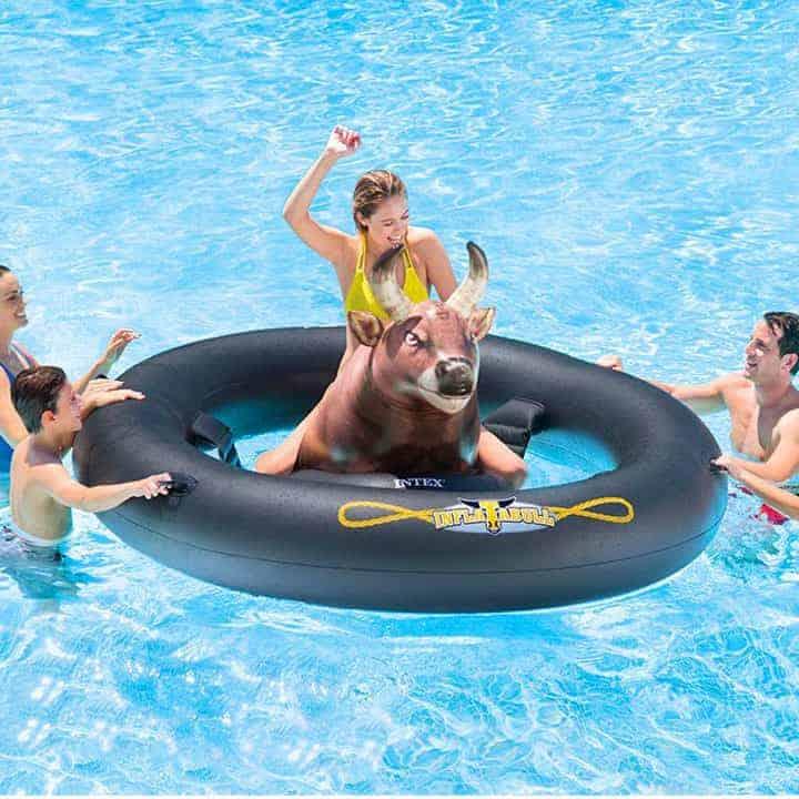 Inflat-A-Bull-Pool-Float