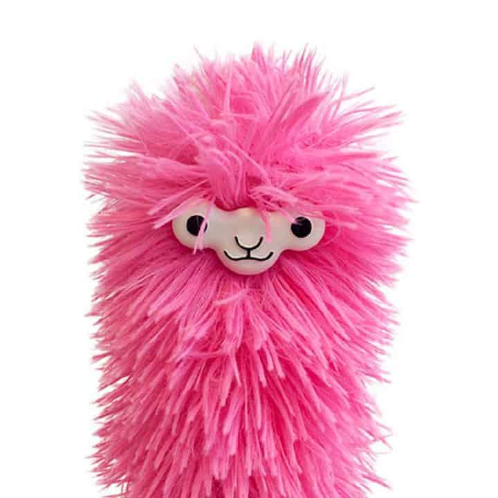 Llama-Duster pink with face