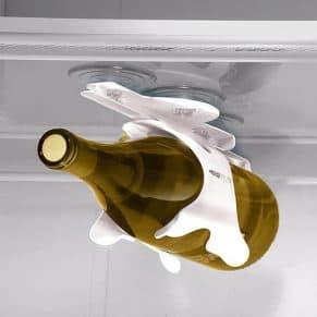Wine-Bottle-Storage-Rack in refrigerator