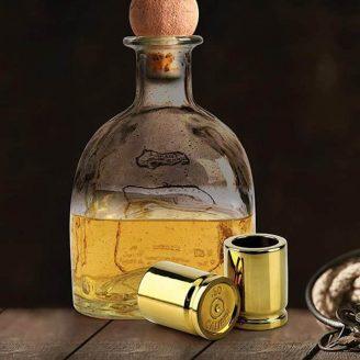 .50 caliber bullet casing shot glasses