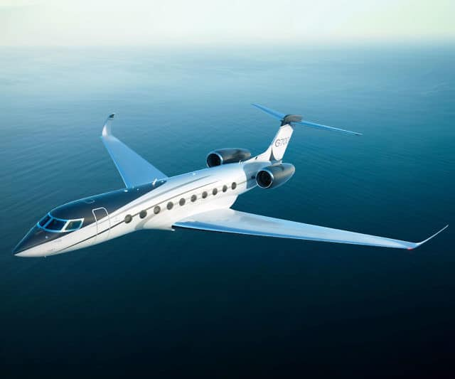 Gulfstream G700 Private Jet in flight