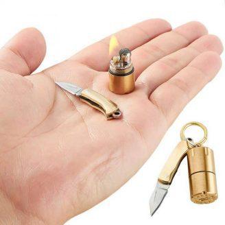 Mini Thumb Lighter and Knife Set