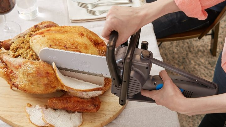 turkey carving chainsaw