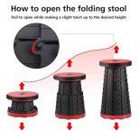 Retractable Folding Stool