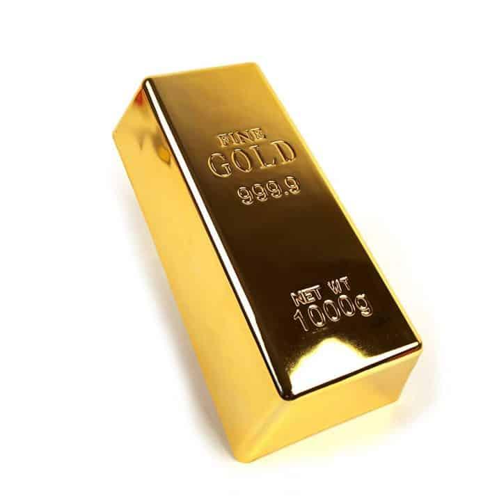 Gold Bar Door Stop