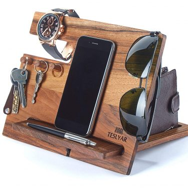Walnut Wood Phone Docking Station