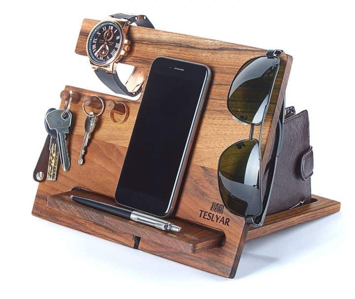Walnut Wood Phone Docking Station