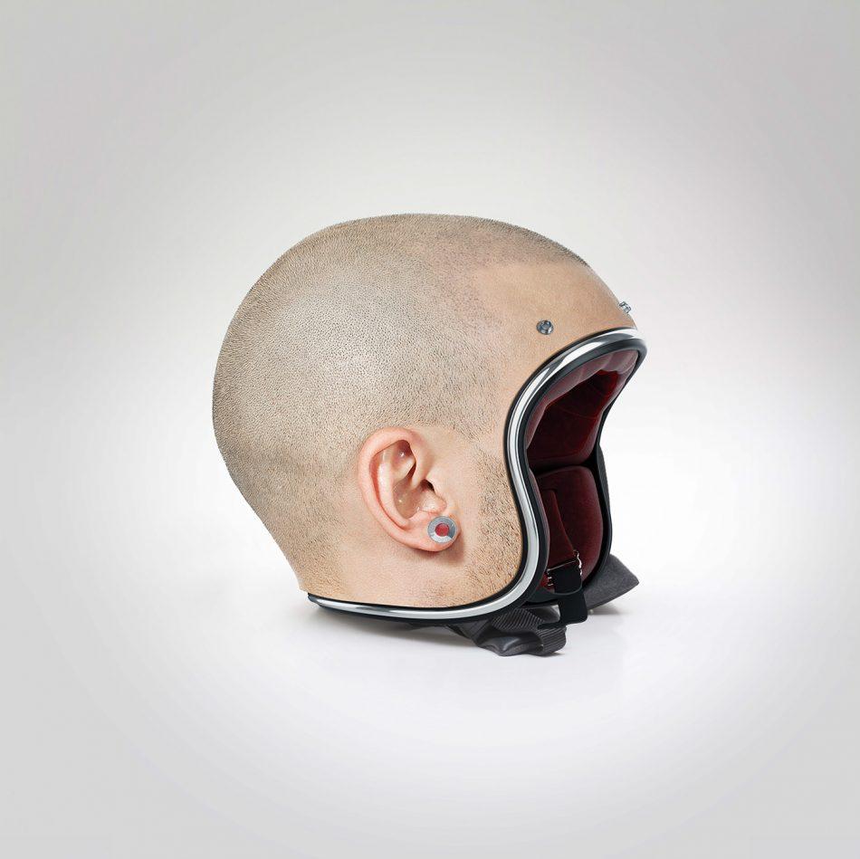 Human Head Motorcycle Helmets