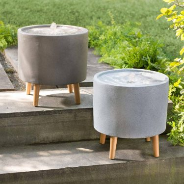 Concrete Vase Water Fountain in Two Colors
