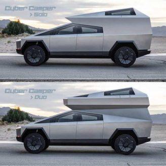 Tesla-Inspired Cyber Camper