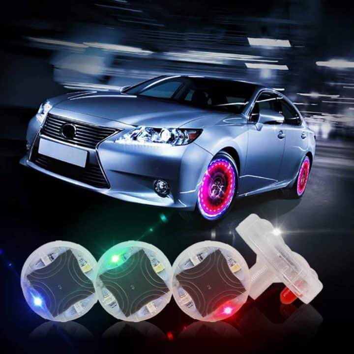 LED Tire Valve Caps comes in a variety of colors