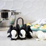 Penguin Boiled Egg Holder on kitchen counter