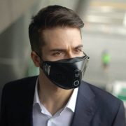 Smart Face Mask being worn