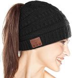 Ponytail Beanie with Bluetooth Headphones