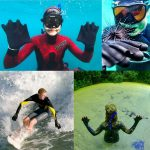 webbed swimming gloves for diving or swimming