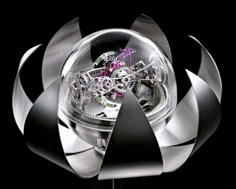 Lotus Triple-Axis Tourbillon Clock