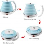 Collapsible Silicone Electric Travel Kettle2