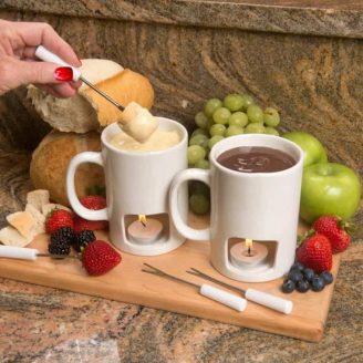 Candle-Lit Personal Fondue Mugs