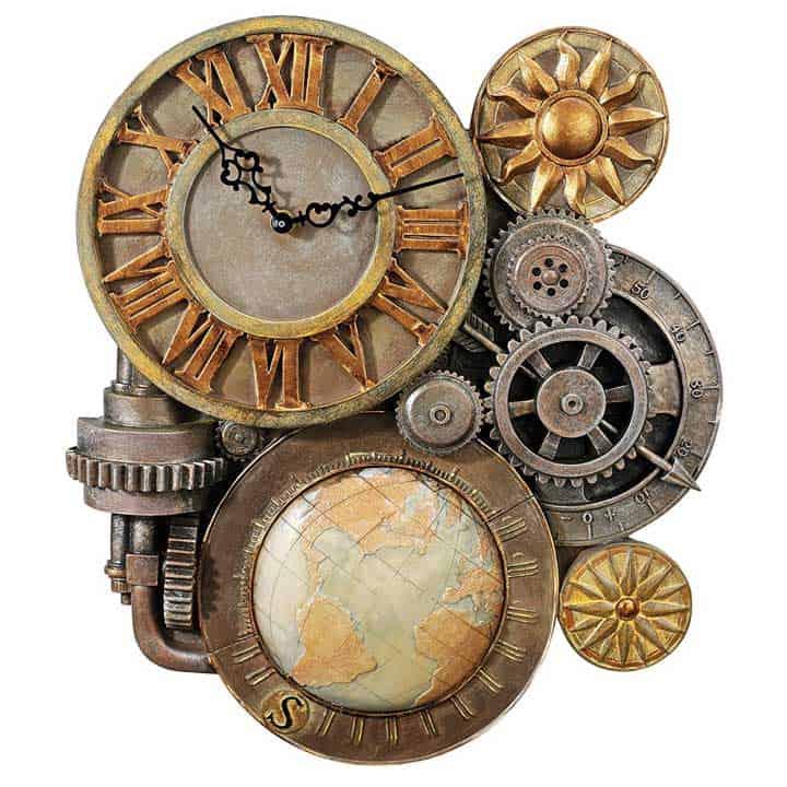 Steampunk-Wall-Clock