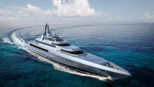 The Silver Edge 260-Foot Superyacht Has The Appearance of a Navy Frigate