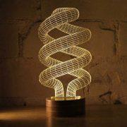 Spiral Bulb Optical Illusion LED Lamp