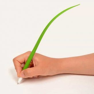 Grass-Blade-Leaf-Ball-Point-Pen