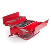Toolbox-Barbeque-Grill on display on a white background