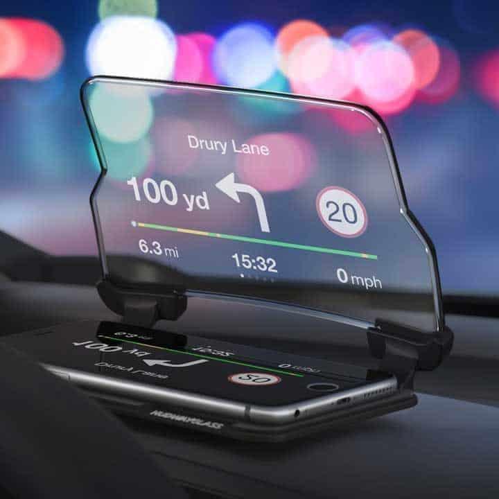 Heads-Up-Display on dashboard