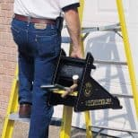 Ladder-Leveling-Tool being used as a toolbox
