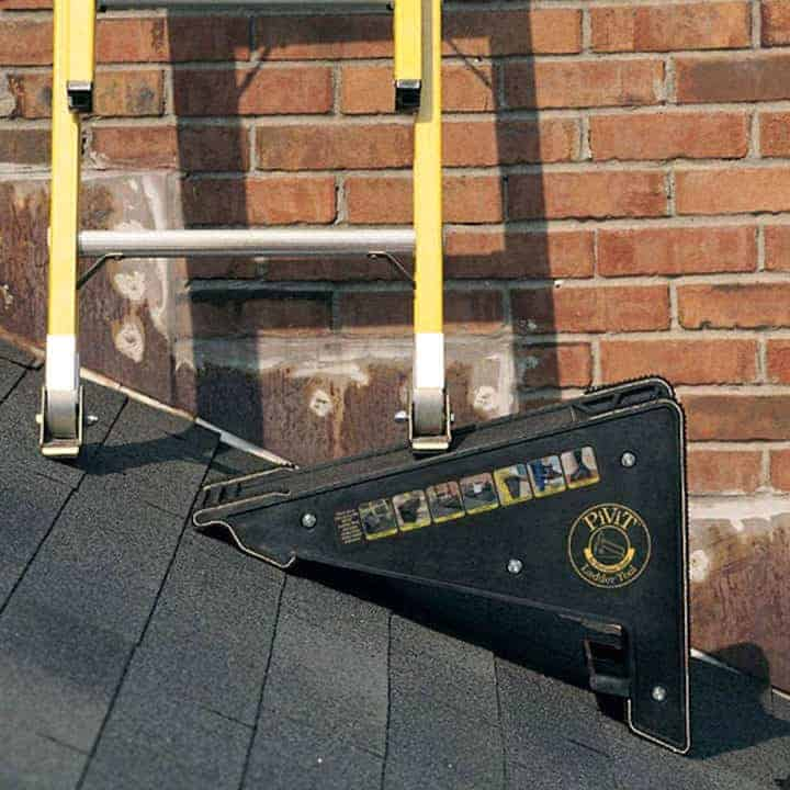 Ladder-Leveling-Tool in use on rooftop