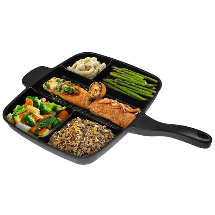 Non-Stick-Multi-Sectional-Skillet