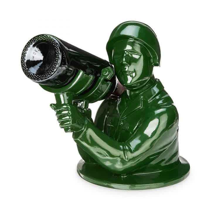 Green Army Man Bazooka Wine Bottle Holder