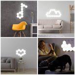 Touch-Sensitive Hexagonal Wall Lights