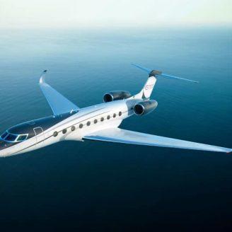 Gulfstream G700 Private Jet in flight