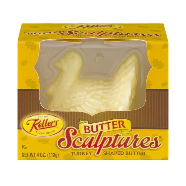 Turkey Shaped Butter Sculpture